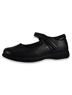 Perforated Trim Mary Jane Shoes by Laura Ashley in black and navy, School Uniforms