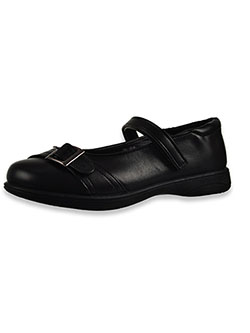 Girls' Buckle Accent Mary Jane Shoes by Laura Ashley in Black