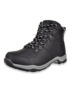 Boys' Double-Reinforced Hiking Boots by Joseph Allen in Black