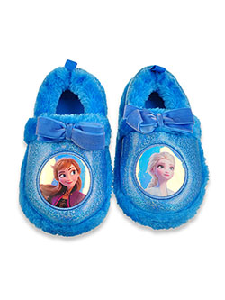 Frozen Girls' Vignettes Plush Slippers by Disney in Multi, Shoes