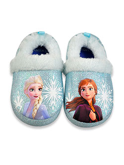 Frozen Girls' Snowflake Plush Slippers by Disney in Multi, Shoes