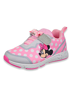 Minnie Mouse Girls' Strap Sneakers by Disney in Pink/gray