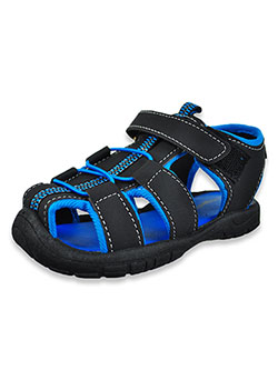 Boys' Sport Sandals by Rugged Bear in Black/blue, Shoes
