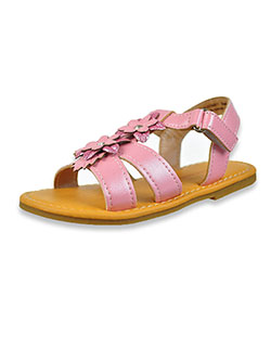 Girls' Glitter Flower Sandals by Laura Ashley in Pink