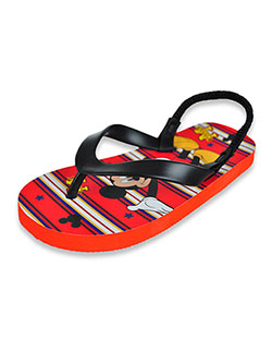 Boys' Flip Flops by Disney Mickey Mouse in Black/red