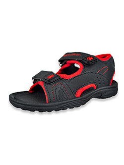 Boys' Open Toe Sandals by Rugged Bear in black/red and brown
