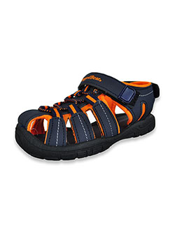 Boys' Sport Sandals by Rugged Bear in Navy/orange