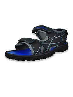 Boys' Open Toe Sandals by Rugged Bear in black/gray and navy/red, Shoes