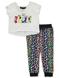 Cats 2-Piece Joggers Set Outfit by Just One in Multi, Infants