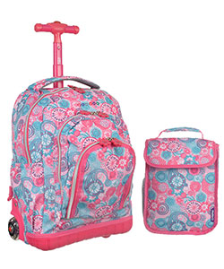 "J World ""Party Mobs"" Rolling Mini Backpack with Lunch Box - CookiesKids.com"