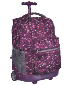 "J World ""Flowerfield"" Rolling Backpack - CookiesKids.com"