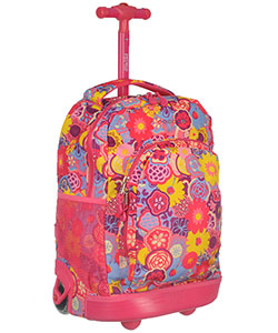 "J World ""Bright Poppy"" Rolling Backpack - CookiesKids.com"