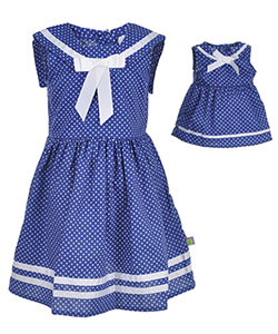 "Dollie & Me Little Girls' ""Bon Voyage"" Dress with Doll Outfit (Sizes 4 – 6X) - CookiesKids.com"