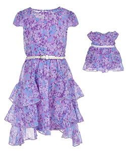 "Dollie & Me Big Girls' ""Hyacinth"" 2-Piece Outfit with Doll Outfit (Sizes 7 – 16) - CookiesKids.com"