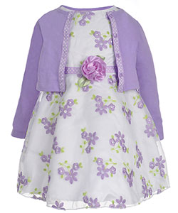 "Youngland Little Girls' Toddler ""Polka Lines"" 2-Piece Dress Set (Sizes 2T – 4T) - CookiesKids.com"
