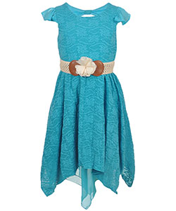 "Emily West Big Girls' ""River Flora"" Belted Dress (Sizes 7 – 16) - CookiesKids.com"