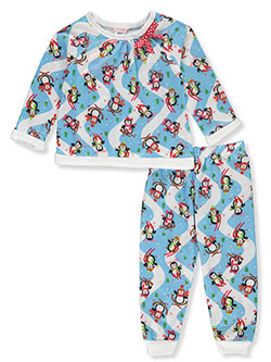 Girls' Ski Penguin 2-Piece Pajamas by Youngland in Multi