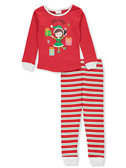 Girls' Elfie Selfie 2-Piece Pajamas by Youngland in Multi