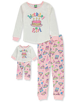 Birthday Girl 2-Piece Pajamas with Doll Pajamas by Dollie and Me in Multi