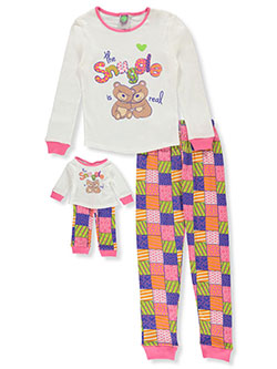 Snuggle 2-Piece Pajamas with Doll Pajamas by Dollie and Me in Multi