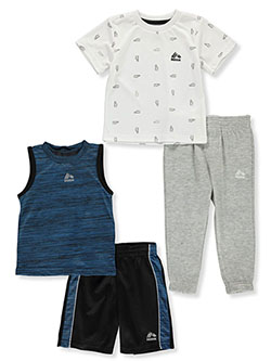 Sneaker Print 4-Piece Shorts and Pants Sets Outfits by RBX in Blue