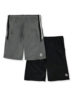 Boys' Angle Trim 2-Pack Shorts by RBX in Gray/black