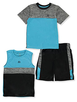 Boys' Paneled 3-Piece Shorts Set Outfit by RBX in Black