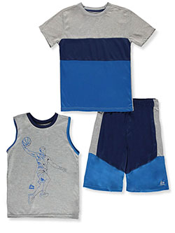 Boys' Paneled 3-Piece Shorts Set Outfit by RBX in Blue
