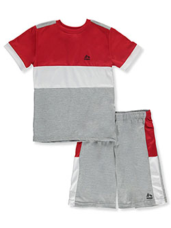 Boys' Panel 2-Piece Shorts Set Outfit by RBX in Heather gray