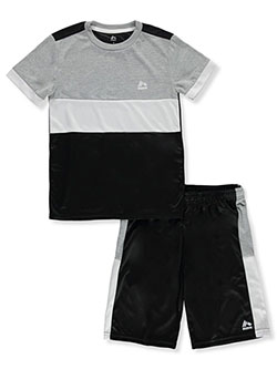Boys' Panel 2-Piece Shorts Set Outfit by RBX in Black