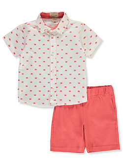 Crab 2-Piece Shorts Set Outfit by Jake's Vintage in Multi, Infants