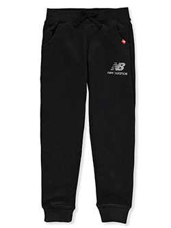 Girls' Logo Joggers by New Balance in Black