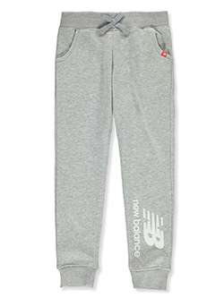 Girls' Logo Joggers by New Balance in Gray