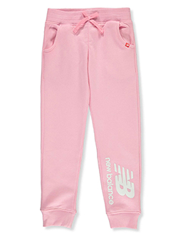 Girls' Logo Joggers by New Balance in Pink
