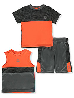 Baby Boys' 3-Piece Shorts Set Outfit by RBX in Gray