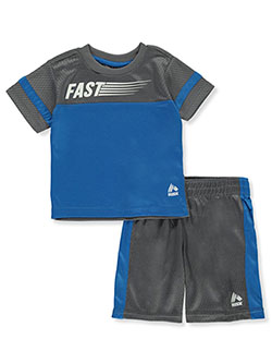 Baby Boys' Fast 2-Piece Shorts Set Outfit by RBX in Blue