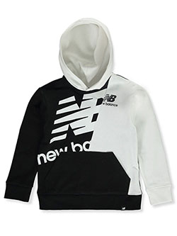 Boys' Pullover Hooded Sweatshirt by New Balance in Black