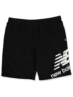 Boys' Logo Shorts by New Balance in Black