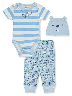 Baby Boys' 3-Piece Layette Set by Mon Cheri Baby in White/multi