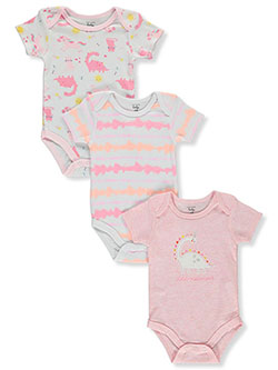 Baby Girls' 3-Pack Bodysuits by Mon Cheri Baby in Pink/multi