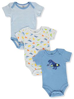 Baby Boys' 3-Pack Bodysuits by Mon Cheri Baby in Blue/multi