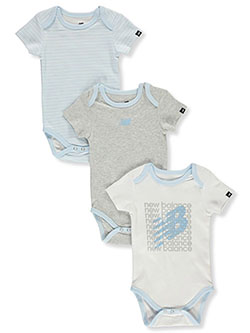 Baby Boys' 3-Pack Bodysuits by New Balance in Multi