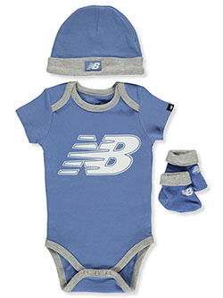 Boys' 3-Piece Layette Set by New Balance in Multi, Infants