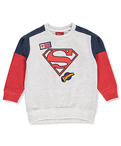 Superman Little Boys' Sweatshirt (Sizes 4 – 7) - CookiesKids.com