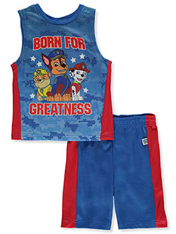 Greatness 2-Piece Shorts Set Outfit by Paw Patrol in Blue/red, Sizes 4-7