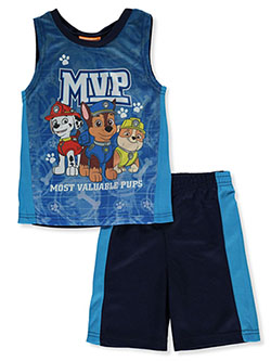 Boys' MVP 2-Piece Shorts Set Outfit by Paw Patrol in Sky blue, Sizes 4-7