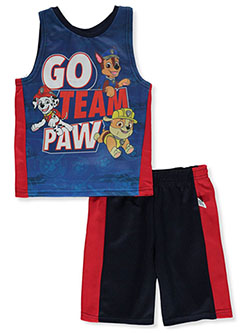 Team Paw 2-Piece Shorts Set Outfit by Paw Patrol in Red, Sizes 4-7