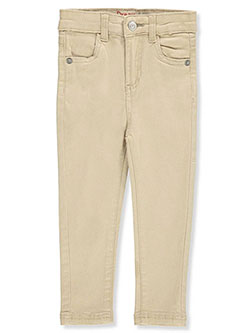 Baby Girls' Stretch Twill Jeans by Dream Star in Khaki