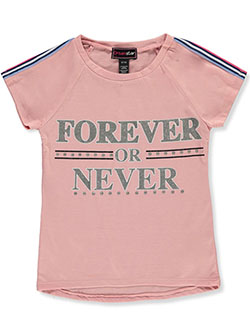 Girls' Glitter Text Raglan Top by Dreamstar in Pink/multi - Fashion Tops