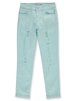 Girls' Rip Design Twill Pants by Dreamstar in Blue